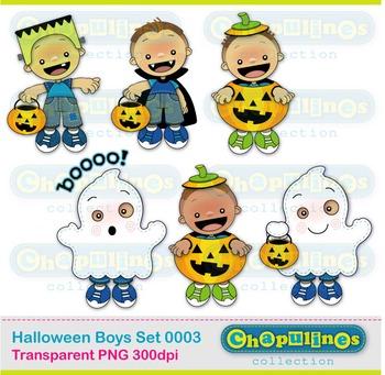 Halloween Boys Clipart 003