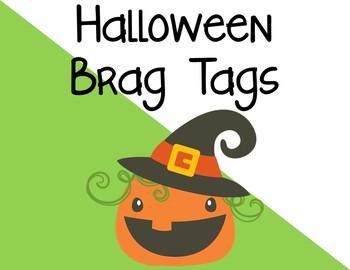 Halloween Brag Tags FREEBIE