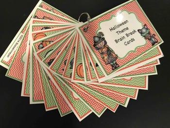 Halloween Brain Break Cards