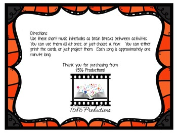 Halloween Brain Breaks -- Fun Musical Activity!