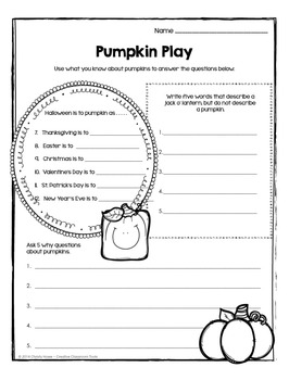 Brain Food: Halloween! Printable Activities for Creative Thinking