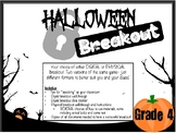 Halloween Breakout-Grade 4 (Digital & Physical Options INCLUDED)