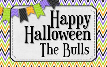 Halloween Brights Treat tags - Editable
