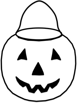 Halloween Bucket Clip Art (Rainbow)