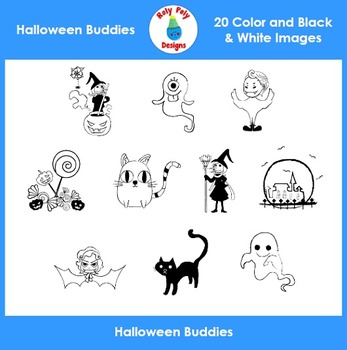 Halloween Buddies Clip Art