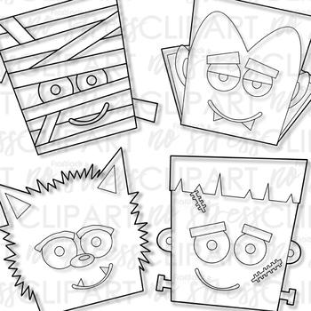 Halloween Buddies Clip Art (Digital Use Ok!)
