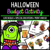 Halloween Budget - Special Education - Shopping - Life Skills - Money - Fall