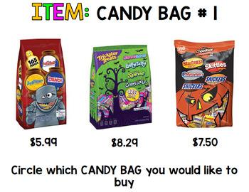 Halloween Budget - Special Education - Shopping - Life Skills - Money - Fall