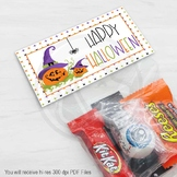 Printable Halloween Treat and Candy Bag Toppers / Pumpkin