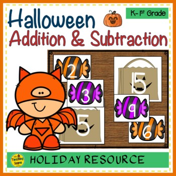 Halloween Build 2 Addend 0-20 Addition & Subtraction Number Sentence
