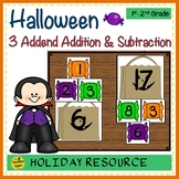 Halloween  Build 3 Addend Addition & Subtraction Number Sentences