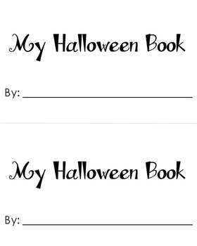 Halloween Build A Book