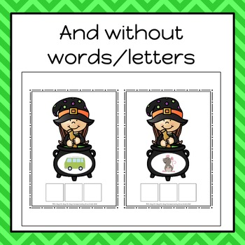 Halloween Build A CVC Word Cards