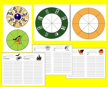 Halloween Activites:  DIBELS Blending Build A Word Wheels - Make up to 63 sets!