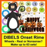Halloween Activites:  DIBELS Blending Build A Word Wheels - Make up to 63 sets!