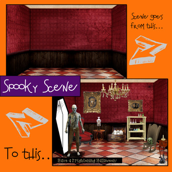 Halloween Build a Scene for R and R-blends.