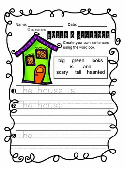 Halloween Build a Sentence