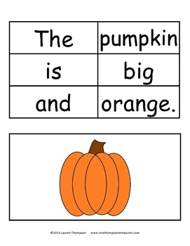 Halloween Build a Sentence - Sentence Structure & Punctuation