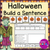 Halloween Build a Sentence Worksheets and Scrambled Sentence Cards