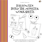 Halloween Build the Monster Worksheets