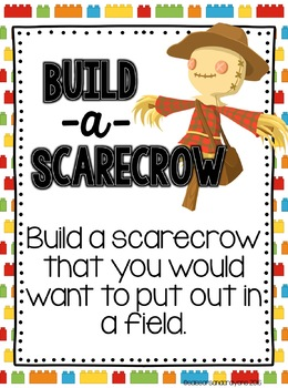 Halloween Building Challenge STEM and Writing Centers