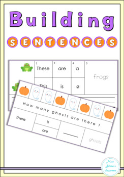 Halloween Building Sentences Cards