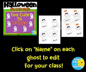 Halloween Bulletin Board Cute Ghosts