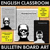 Halloween Bulletin Board Decor, Monster Poster #2, Mary Shelley's Frankenstein