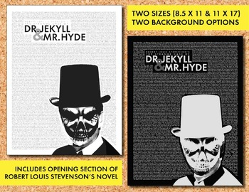 Halloween Bulletin Board Decor for Teens Monster Poster #3 Dr. Jekyll & Mr. Hyde