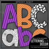 Halloween Bulletin Board Lettering, Pennant Banners and Borders