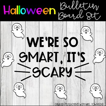 Halloween Bulletin Board Set-Convert To SVG