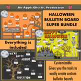 Halloween Bulletin Board Set Customizable (Now with 3 different BulletinBoards)