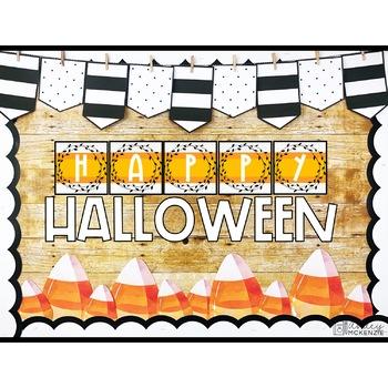 Halloween Bulletin Board or Door Kit- Candy Corn Theme