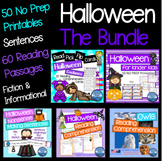 Halloween Activities: Halloween Worksheets Kindergarten Bundle
