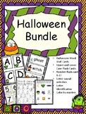 Halloween-Flash Cards, Color by number, letter sounds, let