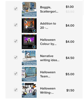 Halloween Bundle-6 products and save 30%