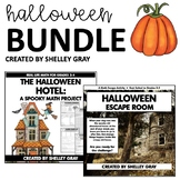 Halloween Bundle: Halloween Themed Math Project & Escape Room