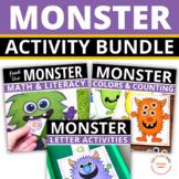 Halloween Bundle | Monster Activities for Preschool and Pre K