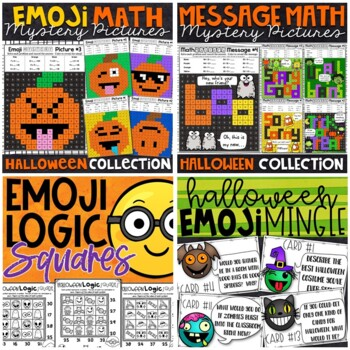 Halloween Bundle | Mystery Pictures, Logic Puzzles, and More