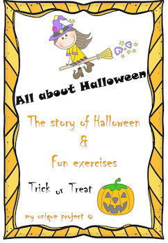 Halloween Bundle: Origins of Halloween and fun exercises