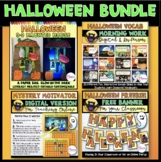 Halloween Bundle! Haunted House Literacy Centers | Morning Work | Motivators