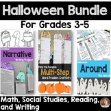 Halloween Bundle: Social Studies, Writing, Reading, and Math for Grades 3-5
