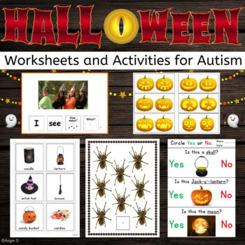 Halloween Bundle - Vocabulary Cards, Activities, Worksheets