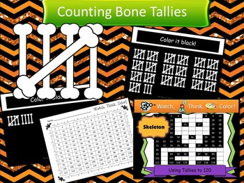 Halloween Bundle Watch, Think, Color Games - Mystery Pictures