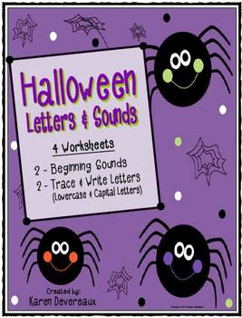 Halloween Math and Literacy Bundle: Worksheets, Puzzles, Clothespin Activities