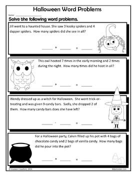 Halloween Bundle for First Grade Endless