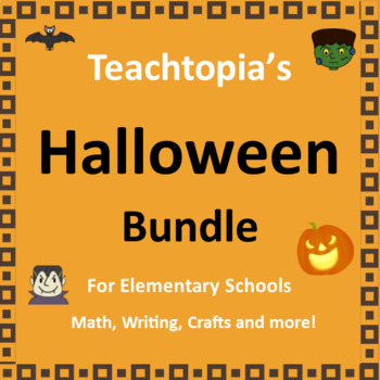 Halloween Bundle  for Halloween.  Includes Halloween Math, writing, and art