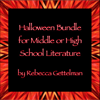 Halloween Bundle for Middle and High School Literature or English
