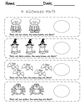 Halloween Bundle for Primary Grades (Math, Reading, & Writing)