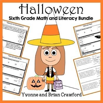 Halloween Bundle for Sixth Grade Endless